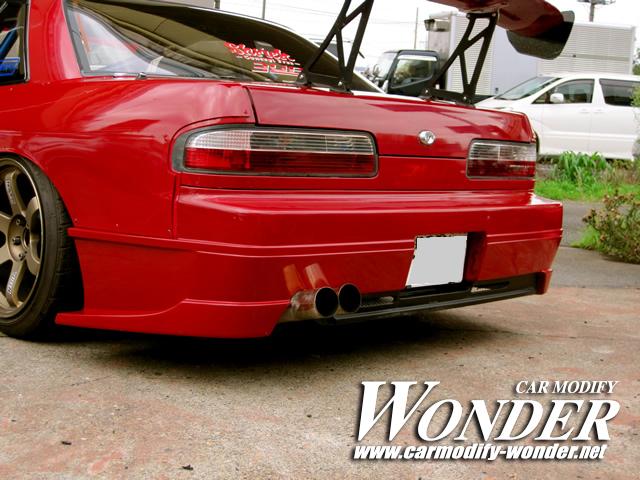 CMW s13 silvia rear Bumper Glare 2