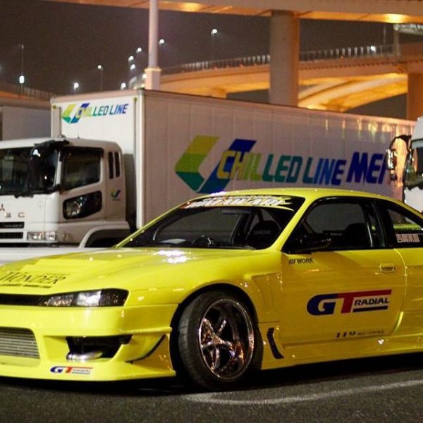 Glare Silvia S14 Kouki Side Skirts