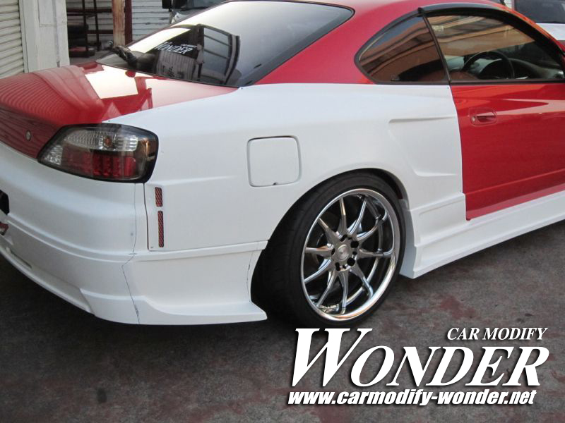 Car Modify Wonder s15 rear 50mm GT Fender 8