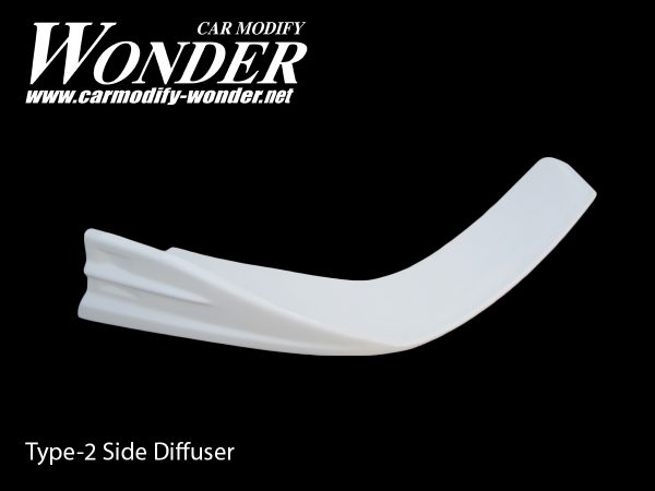 Glare Front Bumper Side Diffuser Type Side-2