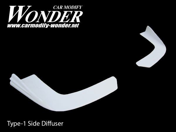 Glare Front Bumper Side Diffuser Type Side-1