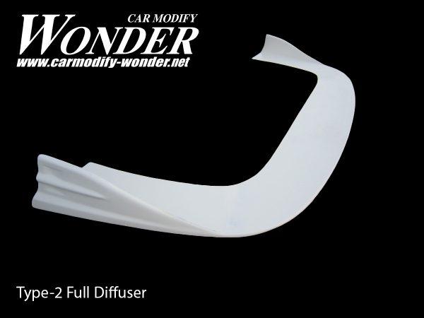Glare Front Bumper Full Diffuser Type 2